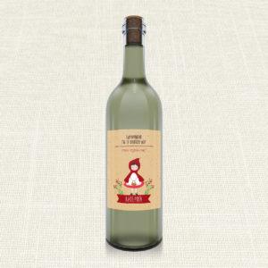 Ετικέτα Κρασιού MyMastoras®- Little Red Riding Hood