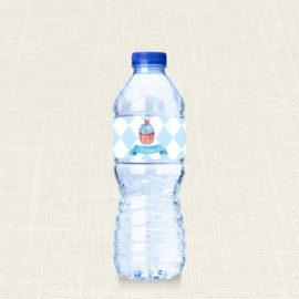Ετικέτα Νερού MyMastoras®- Blue Cupcake