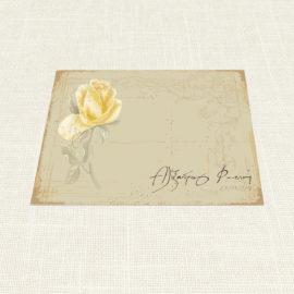 Σουπλά Γάμου MyMastoras®- Yellow Roses