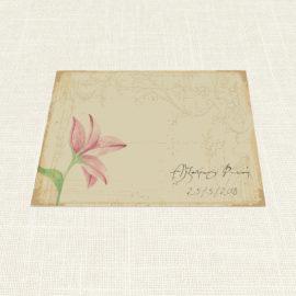 Σουπλά Γάμου MyMastoras®- Postcard Lily