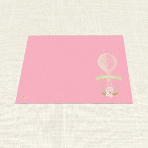 Σουπλά Βάπτισης MyMastoras®- Pink Aerostat