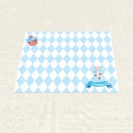 Σουπλά Βάπτισης MyMastoras®- Blue Cupcake