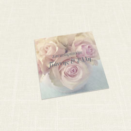 Ευχαριστήριο Καρτελάκι MyMastoras®- Old Roses
