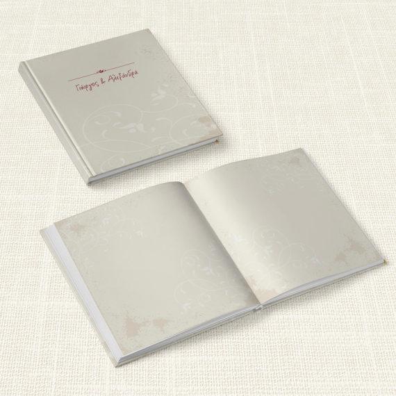 Βιβλίο Ευχών Γάμου MyMastoras® - White Flower
