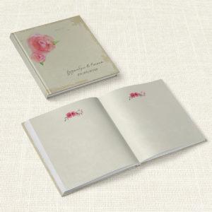 Βιβλίο Ευχών Γάμου MyMastoras® - Watercolor Roses