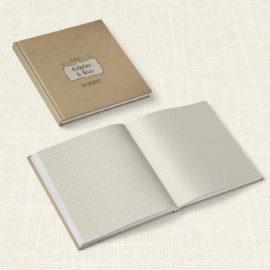 Βιβλίο Ευχών Γάμου MyMastoras® - Brown Polka Dots