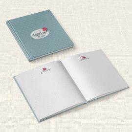 Βιβλίο Ευχών Γάμου MyMastoras® - Rose polka dots
