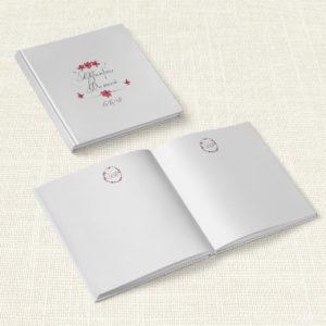 Βιβλίο Ευχών Γάμου MyMastoras® - Circles Flowers