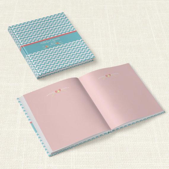 Βιβλίο Ευχών Γάμου MyMastoras® - Blue ZigZag