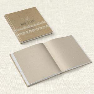 Βιβλίο Ευχών Γάμου MyMastoras® - Lace Brown