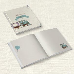Βιβλίο Ευχών Βάπτισης MyMastoras® – Train Dream