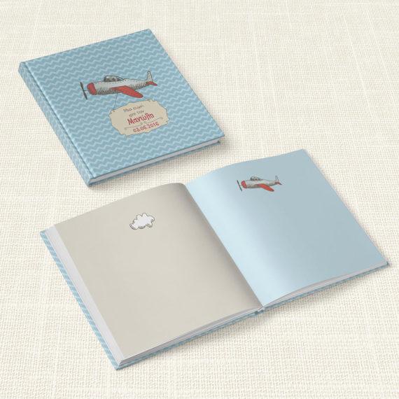 Βιβλίο Ευχών Βάπτισης MyMastoras® – Airplane