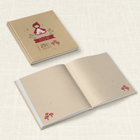 Βιβλίο Ευχών Βάπτισης MyMastoras® – Little Red Riding Hood