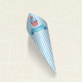 Χωνάκι MyMastoras®- Blue Cupcake