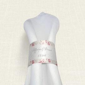 Δαχτυλίδι Πετσέτας Γάμου MyMastoras® - Roses Border