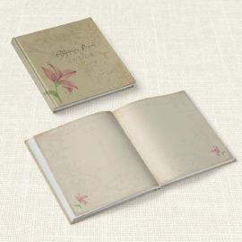 Βιβλίο Ευχών Γάμου MyMastoras® - Postcard Lily