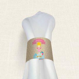 Δαχτυλίδι Πετσέτας Βάπτισης MyMastoras® – Girl Bath