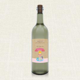 Ετικέτα Κρασιού MyMastoras®- Girl Bath