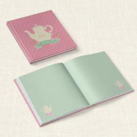 Βιβλίο Ευχών Βάπτισης MyMastoras® – Teapot