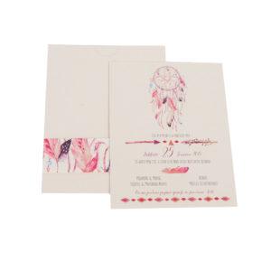 Προσκλητήρια MyMastoras® – Pink Dream Catcher