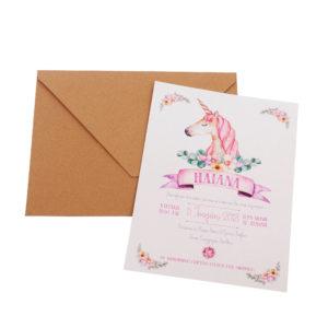Προσκλητήρια MyMastoras® – Unicorn