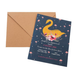 Προσκλητήρια MyMastoras® – Gold Swan