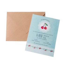Προσκλητήριο Βάπτισης MyMastoras - Cherry Blossom Girl
