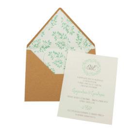 Προσκλητήρια Γάμου MyMastoras® – Σειρά Green (300.026)