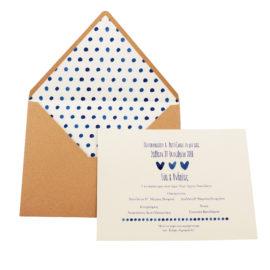 Προσκλητήρια Γάμου MyMastoras® – Σειρά Blue Hearts (300.034)