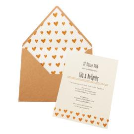 Προσκλητήρια Γάμου MyMastoras® – Σειρά Golden Hearts (300.035)