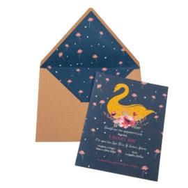 Προσκλητήρια Βάπτισης MyMastoras® – Σειρά Gold Swan (350.018)