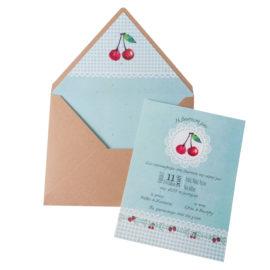 Προσκλητήρια Βάπτισης MyMastoras® – Σειρά Cherry Blossom Girl (350.021)