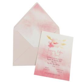 Προσκλητήρια Βάπτισης MyMastoras® – Σειρά Watercolor Flower 318.033