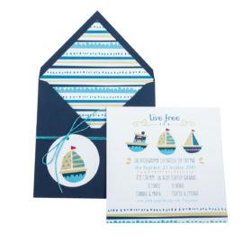 Προσκλητήρια Βάπτισης MyMastoras® – Σειρά Ahoy 318.003